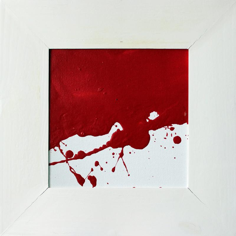 Rot und Weiß 03/03, Acryl, 2013