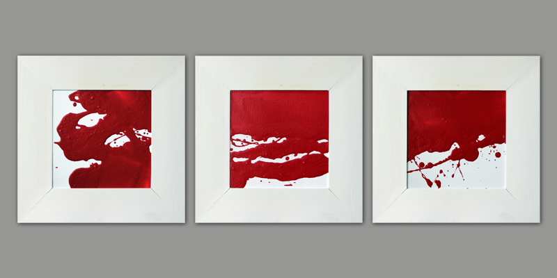 Eis und Feuer (Triptych), Acryl, 2013