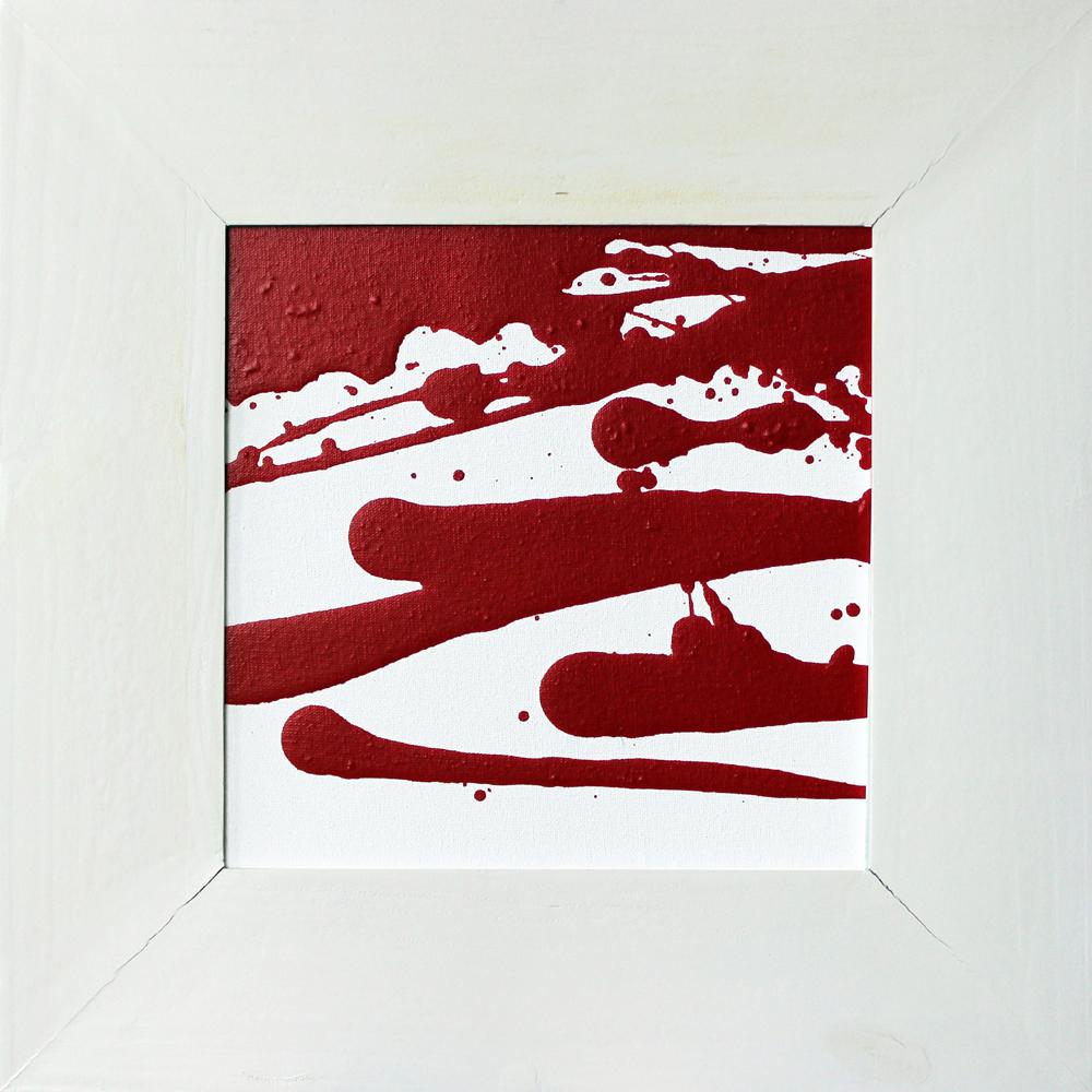 Rot und Weiß (01-05), Acryl, 2013