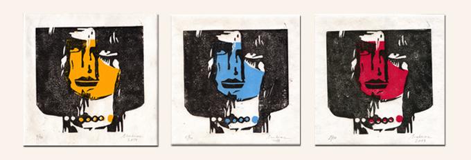 Linolschnitt-triptychon-Mahnac