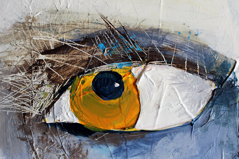 Sophie, Detail, 100 x 100 cm, Acryl auf Leinwand