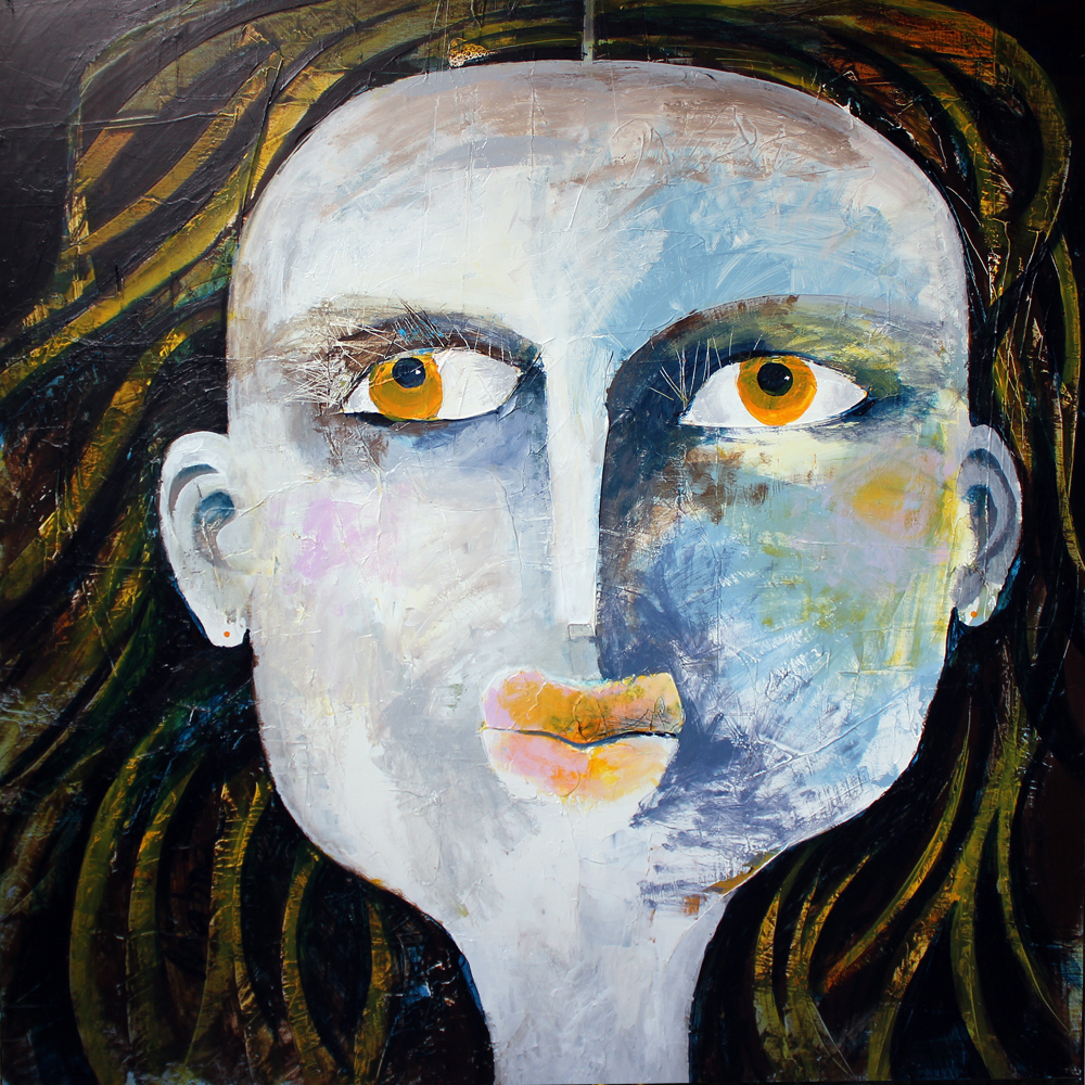 Sophie, 100 x 100 cm, Acryl auf Leinwand