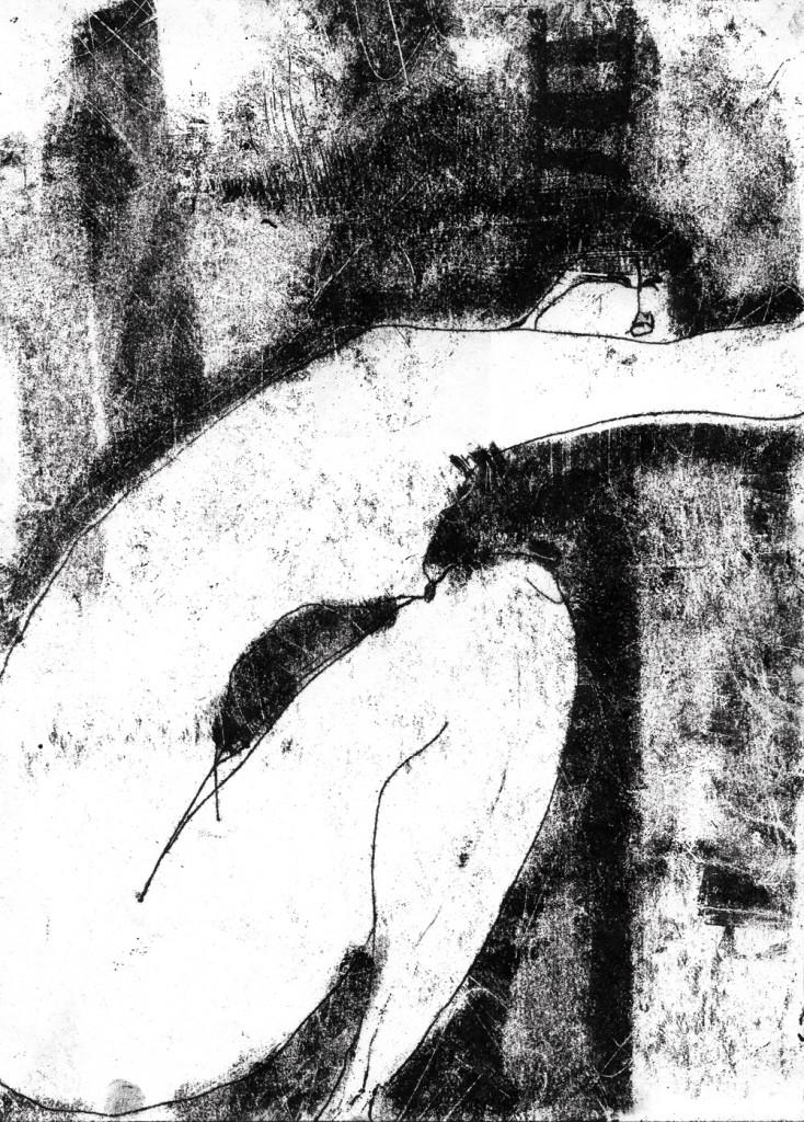 Monotypie, Woman, 21 x 30 cm, Oxana Mahnac, 1999