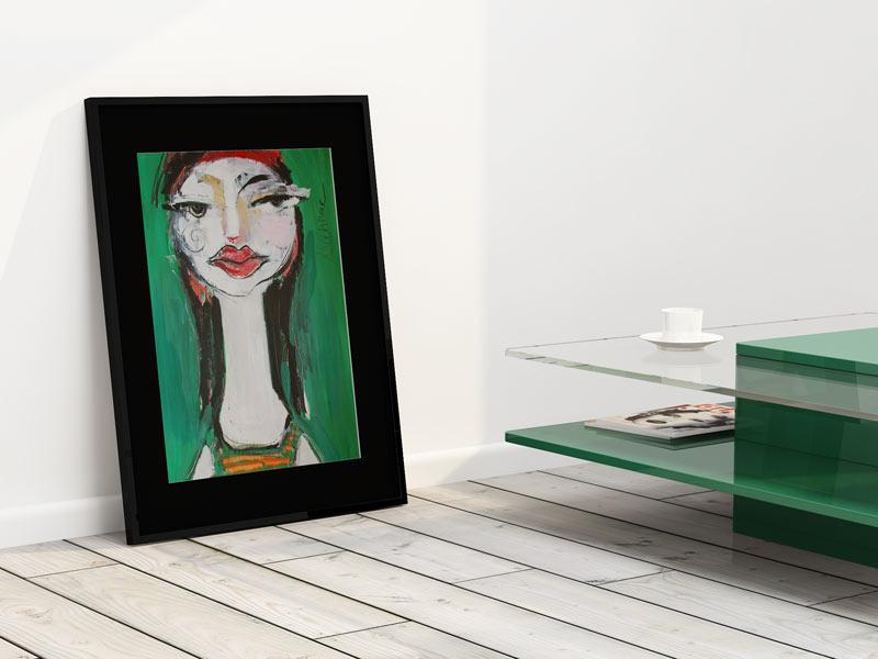 Zeichnung, gerahmt, Oxana Mahnac