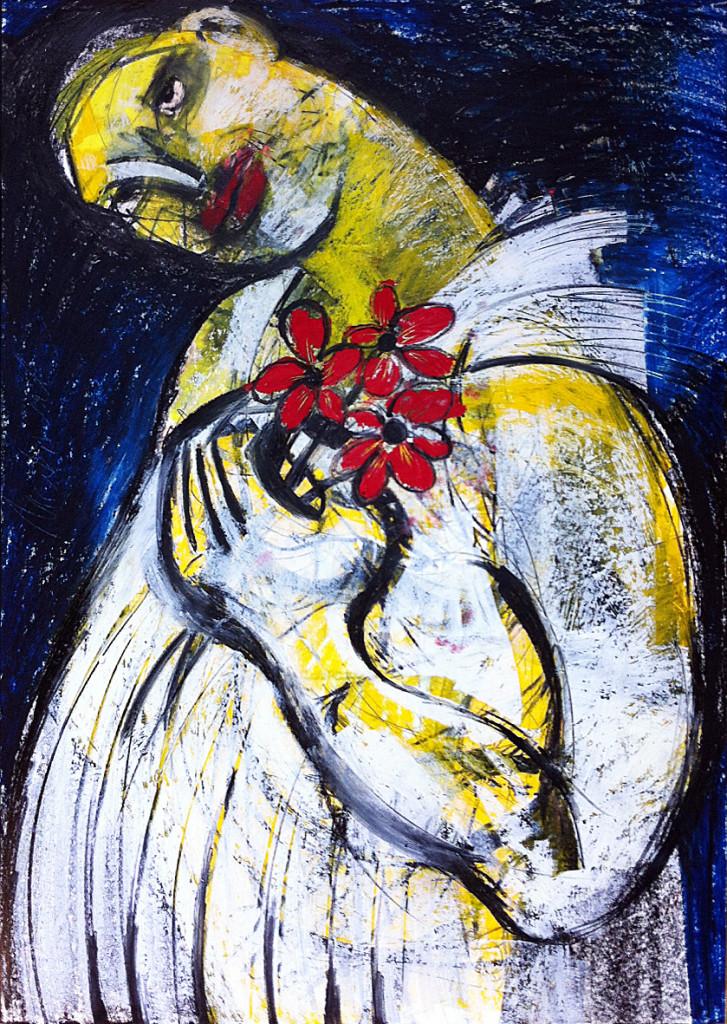 Brautkleid, 42 x 60 cm, Mixed Media, 2014