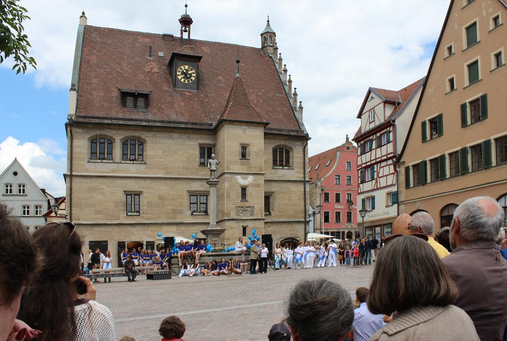 Marktplatz, Eröffnung der 2. Weißenburger Kunsttage, 31. Mai 2014
