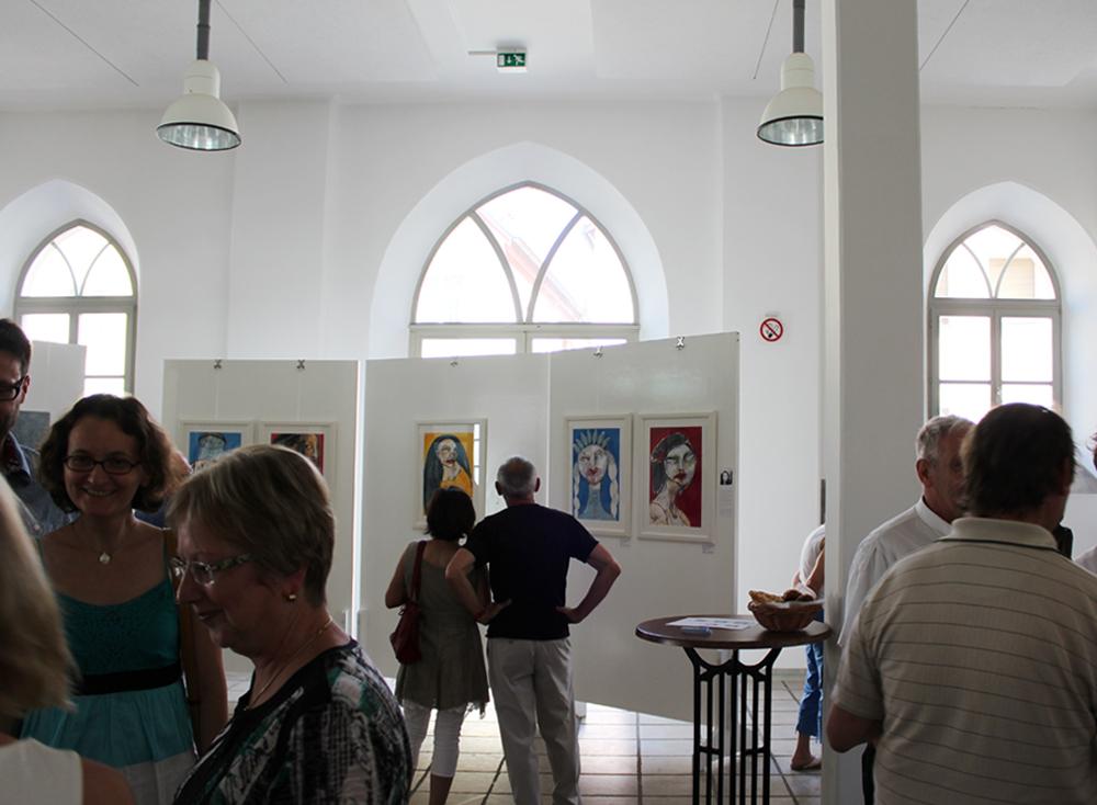 Finissage, Kunstausstellung, Weißenburg, 2014 (Mein Stand)