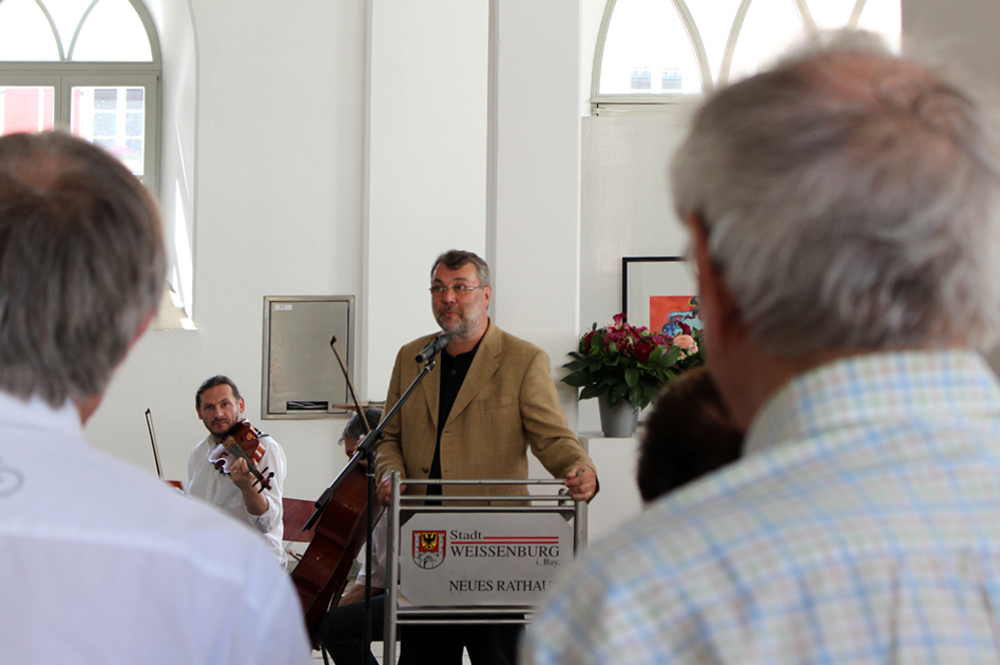 Oberbürgermeister Jürgen Schröppel, Finissage, Kunstausstellung, Weißenburg, 2014
