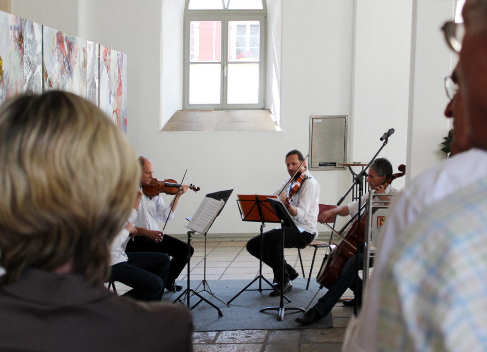 Finissage, Kunstausstellung, Weißenburg, 2014 (Musikpausen)