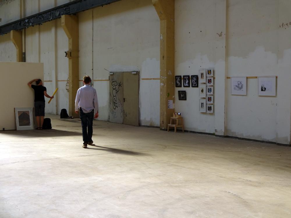 """Mein """"Stand"""", ArtSale, 9:00 a.m. , Schauhalle, Berlin-Schöneweide"""