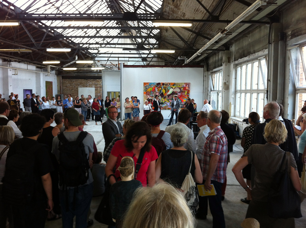 ZENTRALSTATION, Berlin-Schöneweide, Vernissage, 10.Juli 2014
