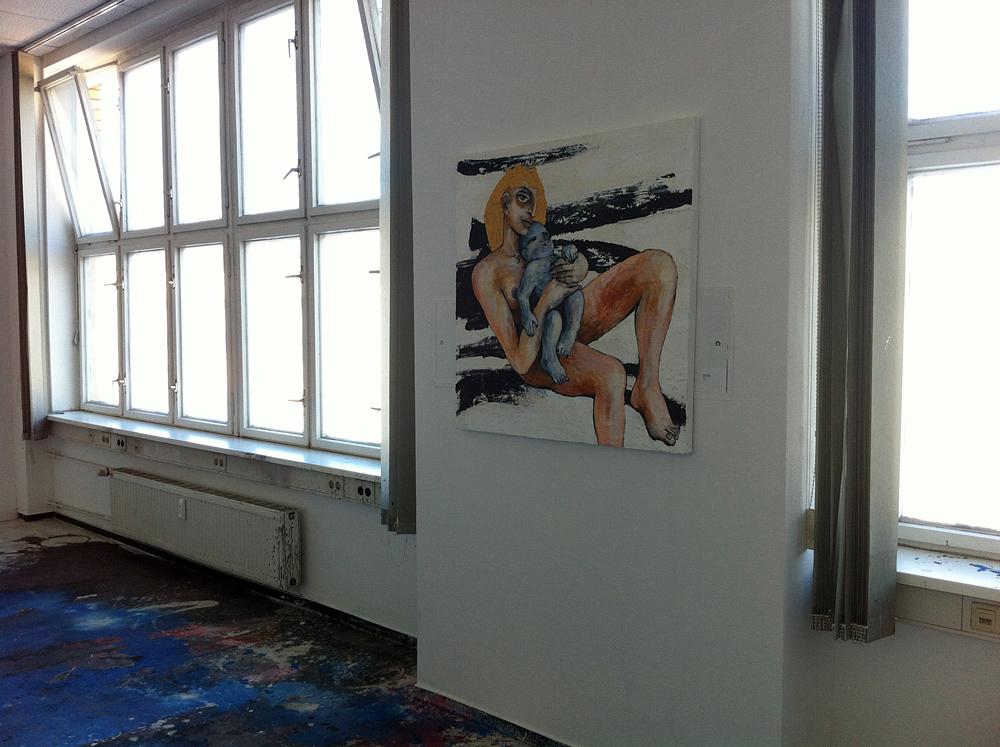 Malerei (Das blaue kind), ZENTRALSTATION, Berlin-Schöneweide, Vernissage, 10.Juli 2014