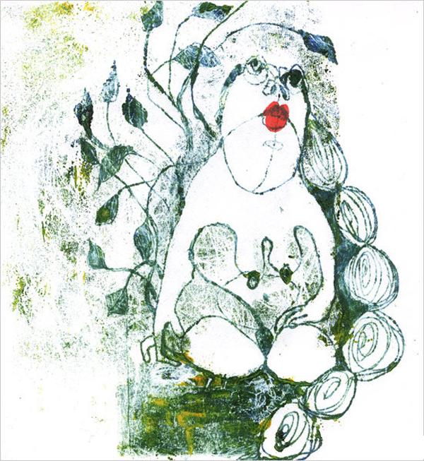 Eve, Monotypie, 2009