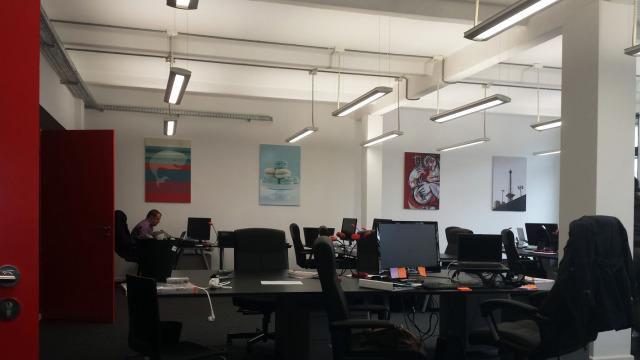 Shutterstock in Berlin, neue Büroräume in der Kulturbrauerei am Prenzlauer Berg