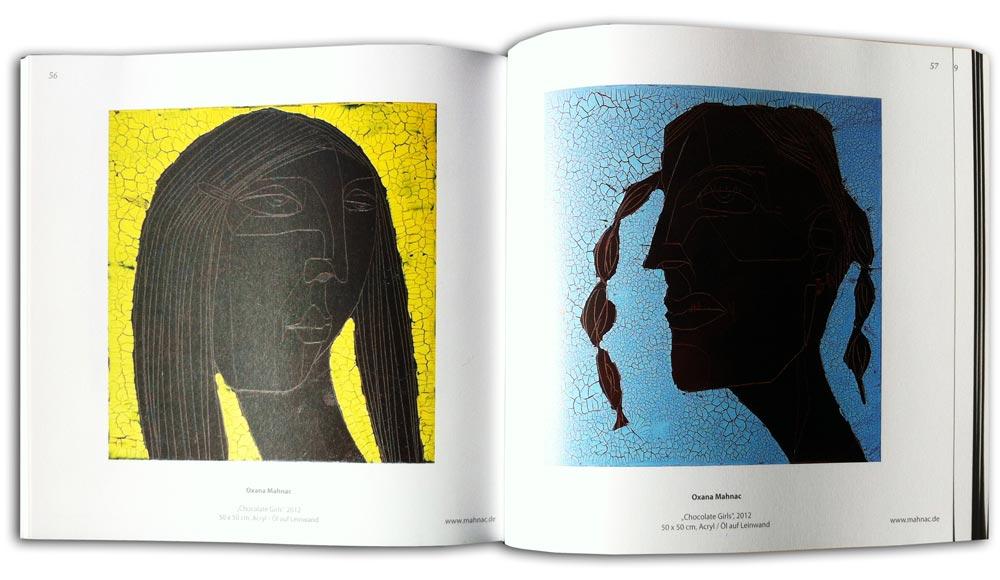 Katalog der Ausstellung ARTGESCHOSS, Wolfenbüttel 2013. Chocolate Girls, Oxana Mahnac