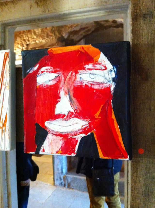 """Oxana Mahnac, Serie """"Faces"""", Acryl auf der Leinwand, 2013"""