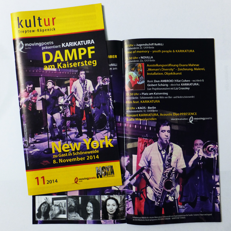 Kultur Kalender Treptow-Köpenick, November 2014