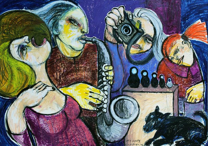 WOMAN'S DIVERSITY, Vernissage der Ausstellung von Oxana Mahnac, 2014