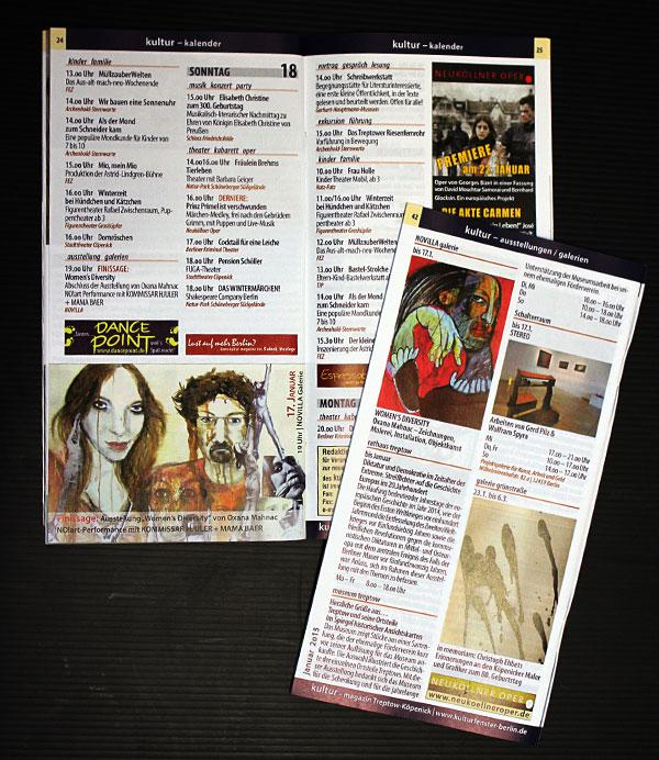 Kultur Kalender Treptow-Köpenick, Januar 2015