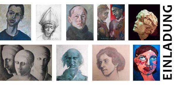 Portraitausstellung, Einlading, Mahnac