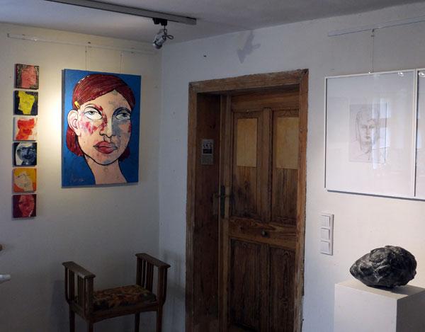 Gruppenausstellug im Mattauschhaus, Portrait, Bilder von Oxana Mahnac, Teltow