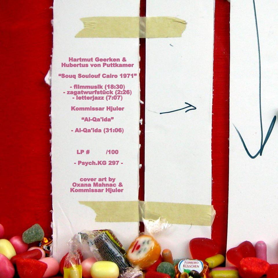 Zur Geerken/Hjuler Split-LP (Langspielplatten-Cover mit Objekten von Oxana Mahnac), 2015