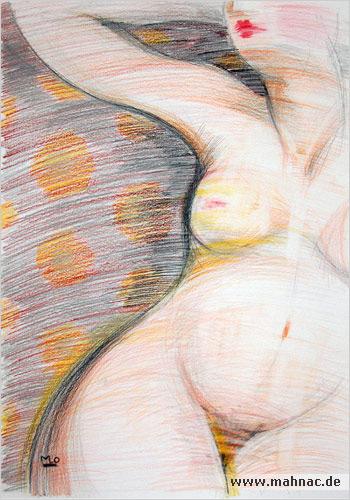 Nude-Zeichnung