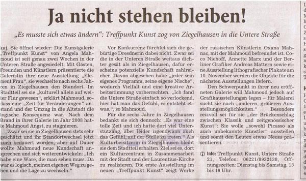 Rhein-Neckar-Zeitung, Oktober, 2011