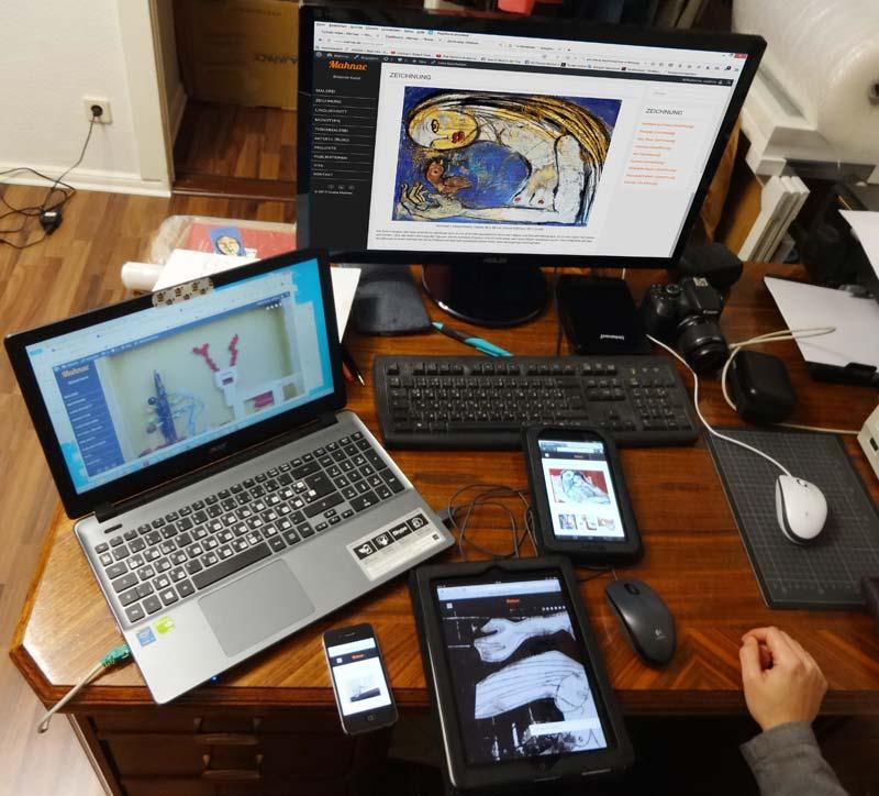 Das rensponsive Design (Testphase), www.mahnac.de