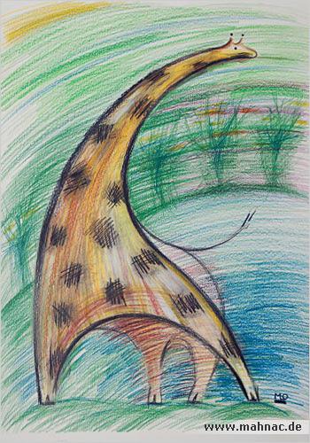 Zeichnung-giraffe