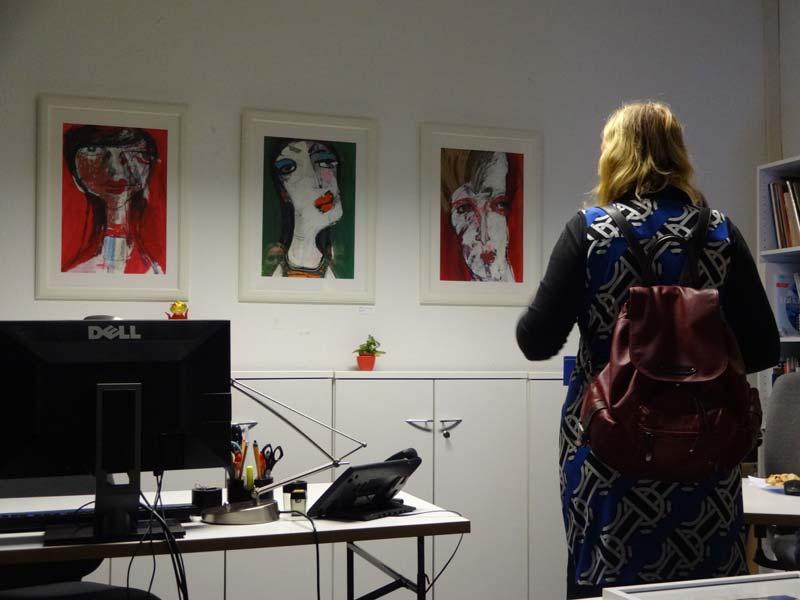 zukunft im zentrum, Eröffnung der Silo-Ausstellung von Oxana Mahnac