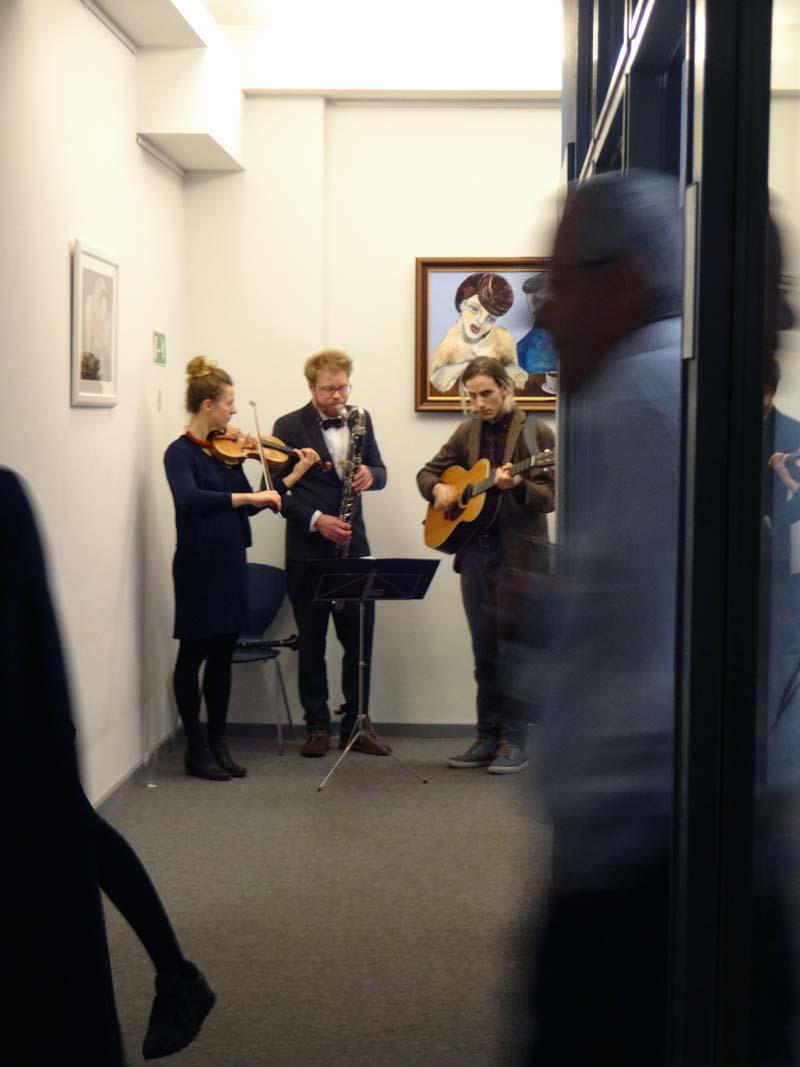 zukunft im zentrum, Eröffnung der Silo-Ausstellung von Oxana Mahnac, 19. November, 2015, Berlin