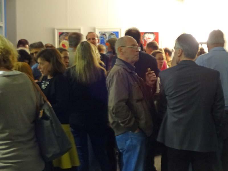 Vernissage, Malerei, Zeichnungen und Druckgrafik von Oxana Mahnac, 19. November, 2015, Berlin