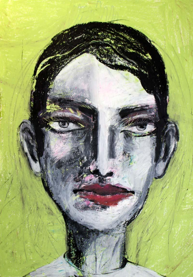 David, Mixed Media, 84 x 60 cm, Oxana Mahnac. 2016