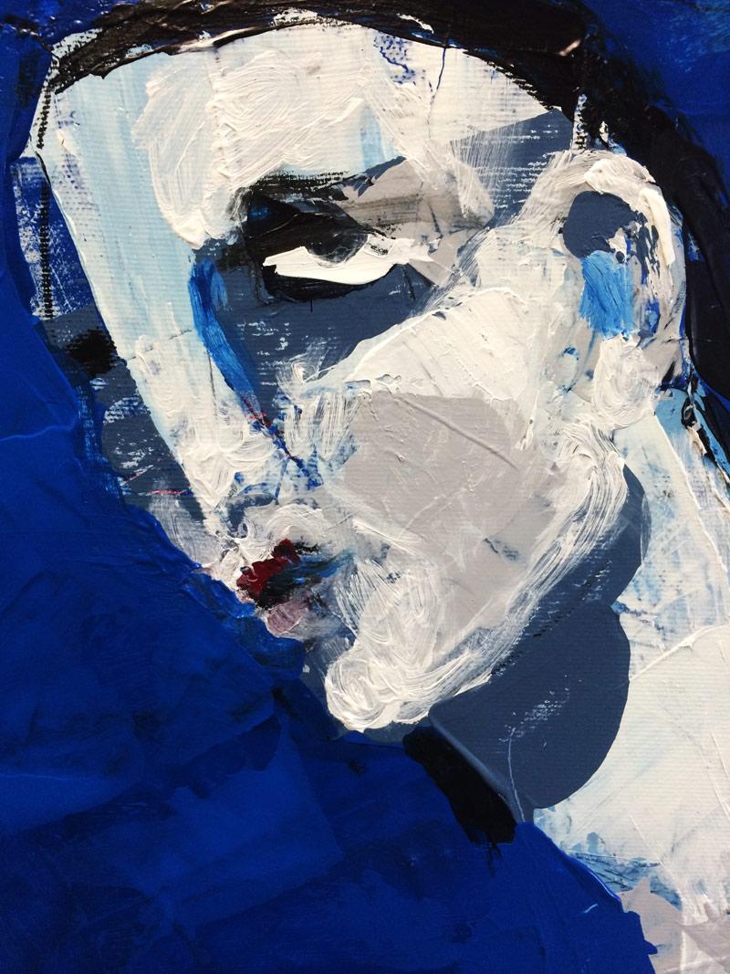 Blauer Akt (Fragment), Acryl auf Leinwand, 80 x 60 cm, 2016