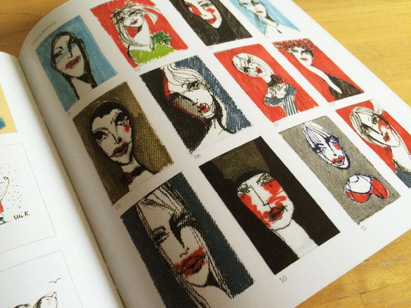Silberanhaenger mit originalen Zeichnungen von Oxana Mahnac, LOUVRETTE, 2016