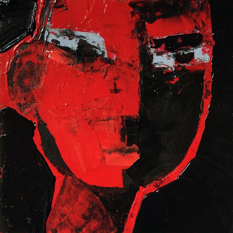 Stern, (#0037), 20 x 20 cm, Acryl auf der HDF-Malplatte, 2016