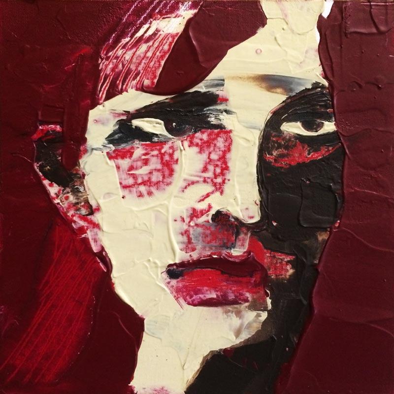 Schicksal, (#0039), 20 x 20 cm, Acryl auf der HDF-Malplatte, 2016