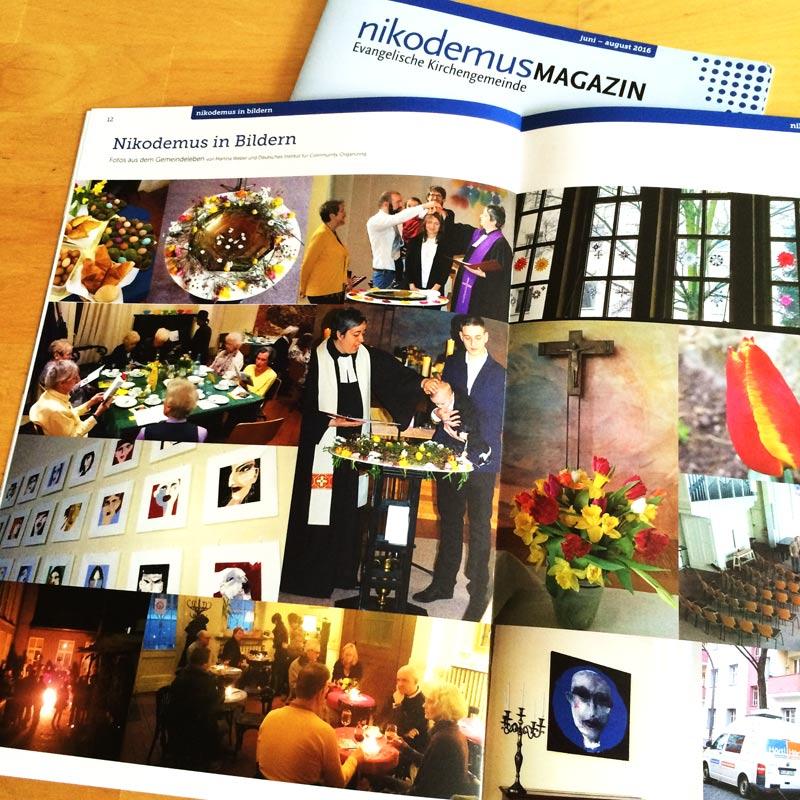 Nikodemus Magazin, u.a. Fotos von der Kunstausstellung, 2016