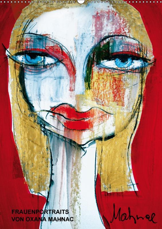 Kunst-Kalender 2017 mit Frauenportraits von Oxana Mahnac