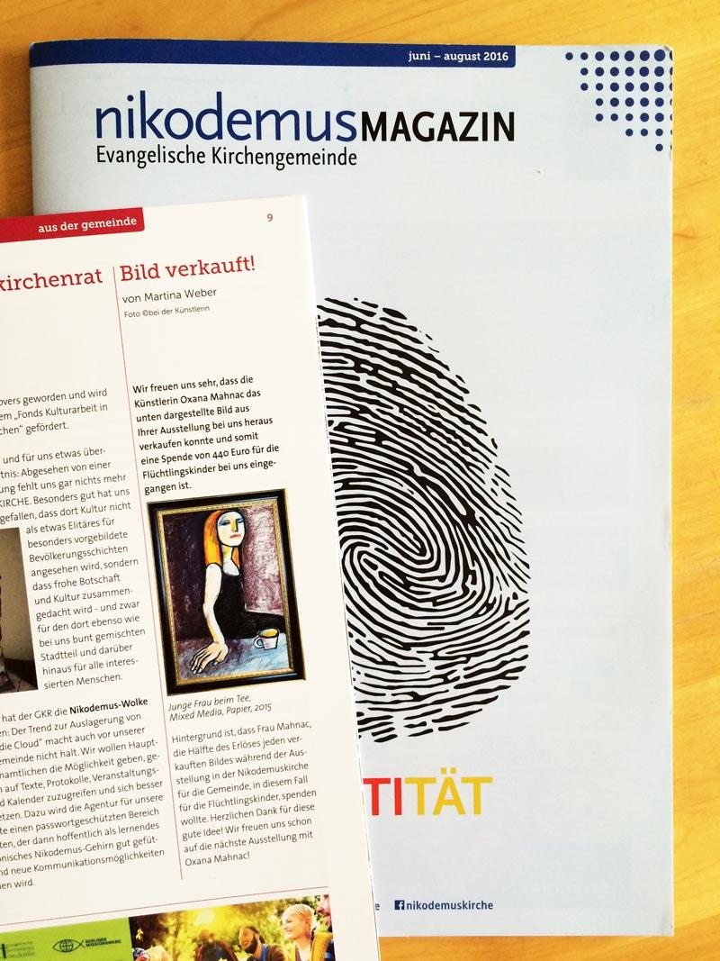 Nikodemus Magazin, Evangelische Kirchengemeinde, Juni-August 2016