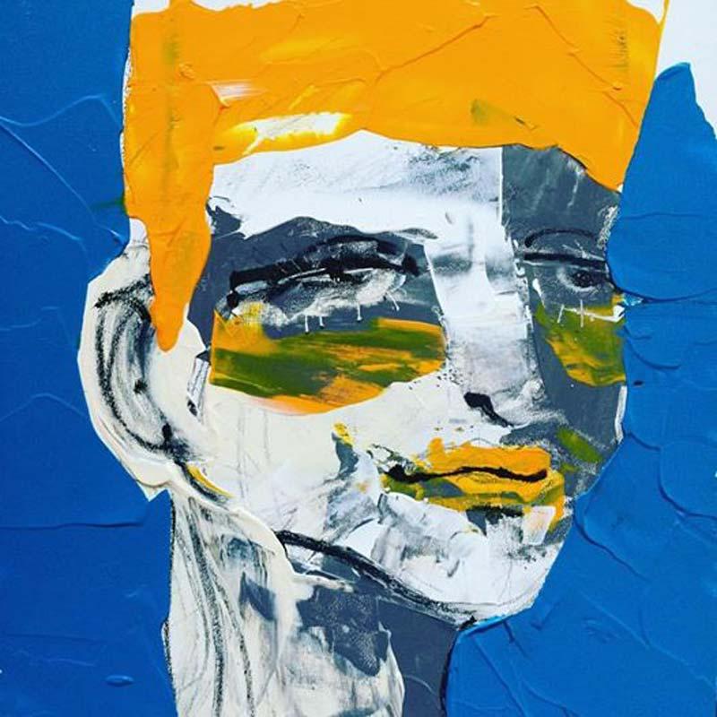 Erkenntnis, (#0041), 20 x 20 cm, Acryl auf der HDF-Malplatte, 2016