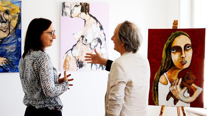 Galleri Korinth, Faaborg, Dänemark, Vernissage mit Oxana Mahnac