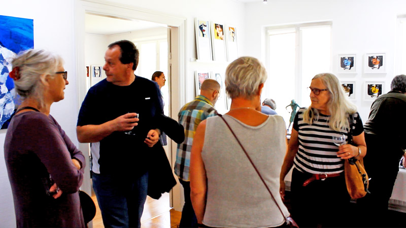 Galleri Korinth, Dänemark, Vernissage am 6. August 2016