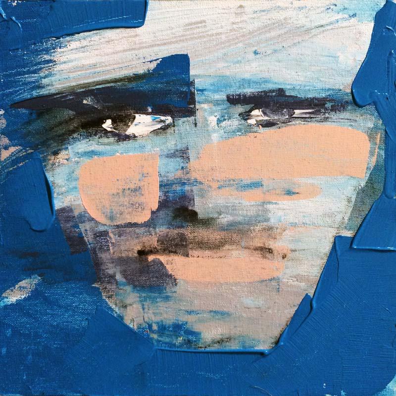 Wind, (#0042), 20 x 20 cm, Acryl auf der HDF-Malplatte, 2016