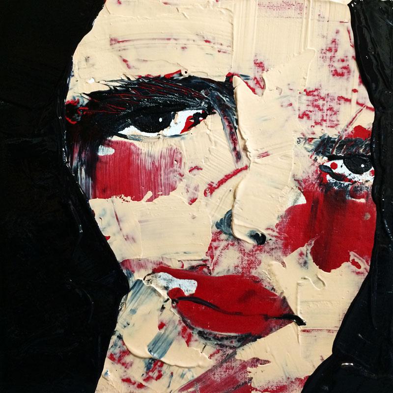 Gedanken, (#0050), 20 x 20 cm, Acryl auf der HDF-Malplatte, 2016