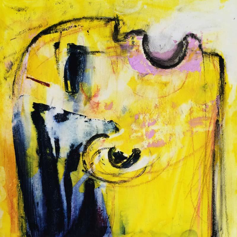 Göttliche, (#0051), 20 x 20 cm, Acryl auf der HDF-Malplatte, 2016
