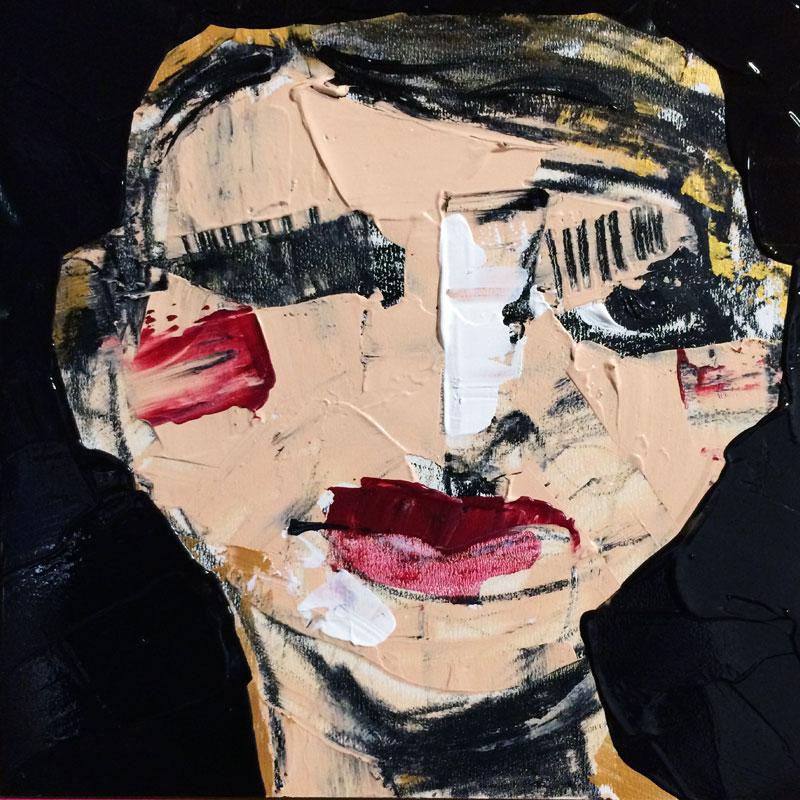 Monster, (#0061), 20 x 20 cm, Acryl auf der HDF-Malplatte, 2016