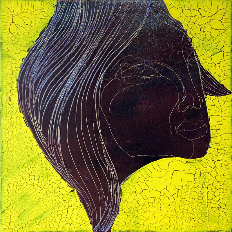 Chocolate Girl (02), Acryl auf Leinwand, 50 x 50, Oxana Mahnac