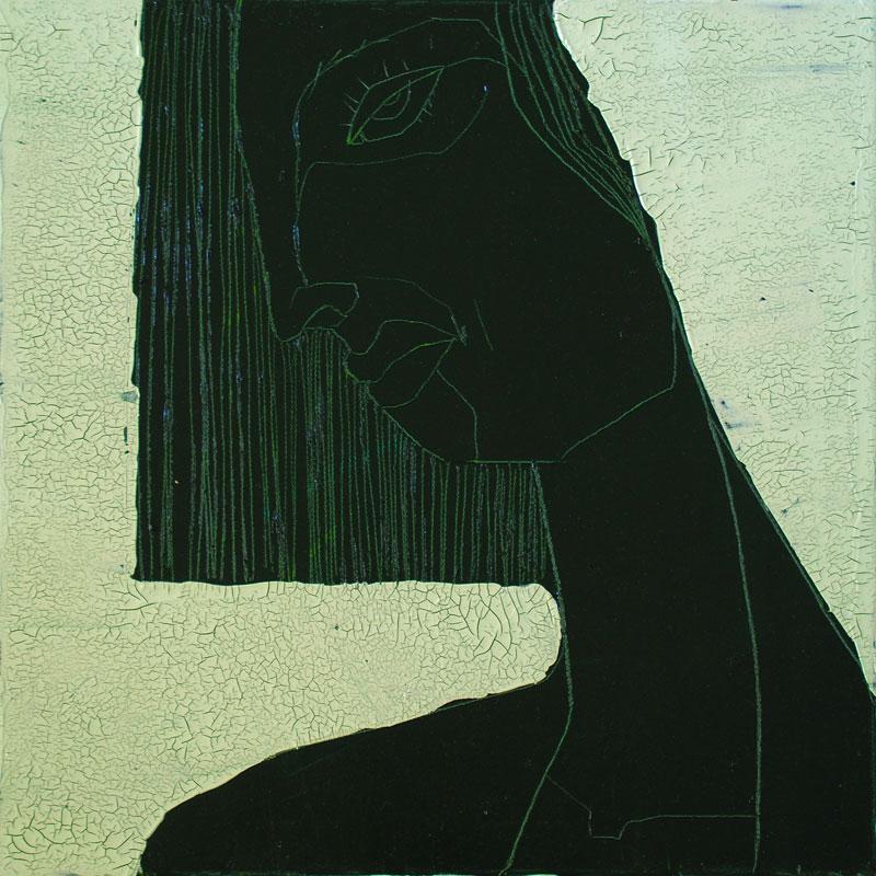 Chocolate Girl (10), Acryl auf Leinwand, 50 x 50, Oxana Mahnac